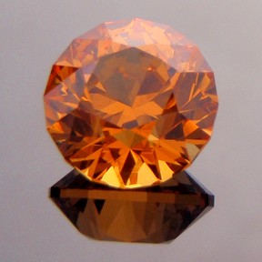 Fanta Orange Spessartite Garnet, Round Brilliant, #230 - Doug Menadue :: Bespoke Gems - Master gemcutter and lapidary artist specialising in fine custom cut precision gems from a wide range of select facet gem rough. Located in Sydney, Australia.