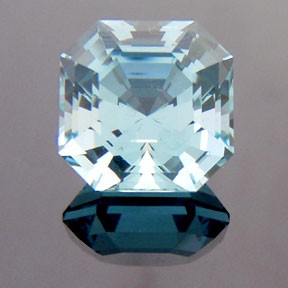 Natural Blue Topaz, Asscher Cut, Brazil, #233 - Doug Menadue :: Bespoke Gems - Master gemcutter and lapidary artist specialising in fine custom cut precision gems from a wide range of select facet gem rough. Located in Sydney, Australia.