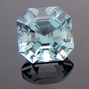 Natural Blue Topaz, Asscher Cut, Brazil, #233