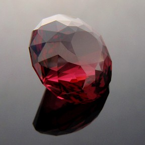 Rhodolite Garnet, Phi Flower Dome, #235 - Doug Menadue :: Bespoke Gems - Master gemcutter and lapidary artist specialising in fine custom cut precision gems from a wide range of select facet gem rough. Located in Sydney, Australia.