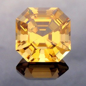 Golden Beryl, Asscher Cut, #236 - Doug Menadue :: Bespoke Gems - Master gemcutter and lapidary artist specialising in fine custom cut precision gems from a wide range of select facet gem rough. Located in Sydney, Australia.