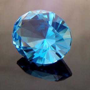 Electric Blue Topaz, KwikOval, Brazil, #248