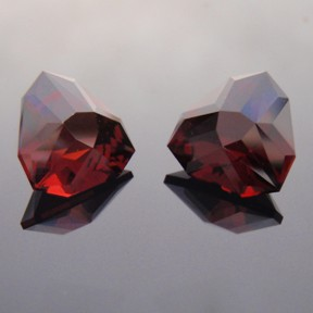 Garnet, Shadow Box Triangle, #26