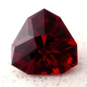 Garnet, Shadow Box Triangle, #26 - Doug Menadue :: Bespoke Gems - Master gemcutter and lapidary artist specialising in fine custom cut precision gems from a wide range of select facet gem rough. Located in Sydney, Australia.