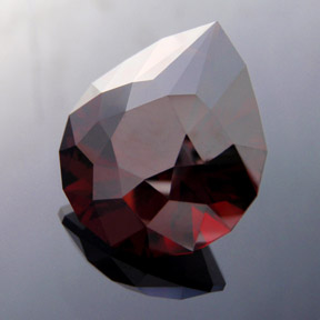 Malaya Garnet, Brilliant Pear, #277 - Doug Menadue :: Bespoke Gems - Master gemcutter and lapidary artist specialising in fine custom cut precision gems from a wide range of select facet gem rough. Located in Sydney, Australia.