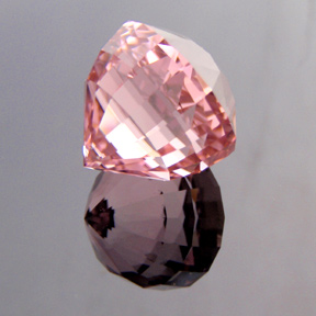 Pink / Clear Tourmaline, Afghanistan, Acorn, #283 - Doug Menadue :: Bespoke Gems - Master gemcutter and lapidary artist specialising in fine custom cut precision gems from a wide range of select facet gem rough. Located in Sydney, Australia.