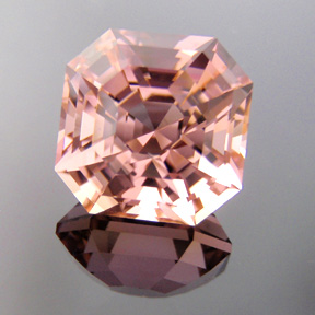 Pink Tourmaline, Nigeria, Asscher, #298 - Doug Menadue :: Bespoke Gems - Master gemcutter and lapidary artist specialising in fine custom cut precision gems from a wide range of select facet gem rough. Located in Sydney, Australia.
