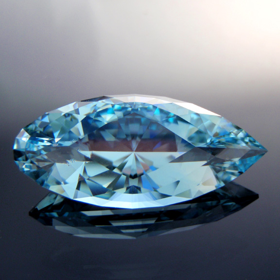Natural Blue Topaz, Diamond Teardrop, , #305