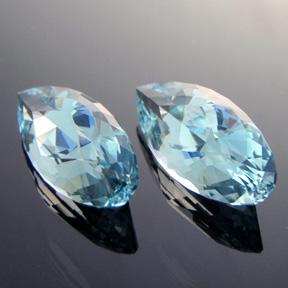 Natural Blue Topaz, Diamond Teardrop, #306 - Doug Menadue :: Bespoke Gems - Master gemcutter and lapidary artist specialising in fine custom cut precision gems from a wide range of select facet gem rough. Located in Sydney, Australia.