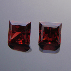 Garnet, Princess Cut, Harts Ranges, NT, Australia, #308 - Doug Menadue :: Bespoke Gems - Master gemcutter and lapidary artist specialising in fine custom cut precision gems from a wide range of select facet gem rough. Located in Sydney, Australia.