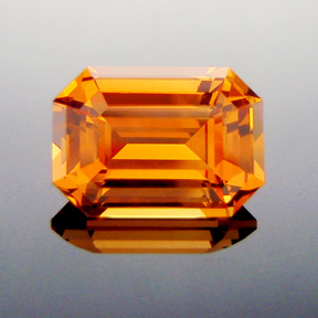 Fanta Orange Mandarin Spessartite Garnet, Emerald Cut, #315 - Doug Menadue :: Bespoke Gems - Master gemcutter and lapidary artist specialising in fine custom cut precision gems from a wide range of select facet gem rough. Located in Sydney, Australia.