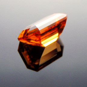 Fanta Orange Mandarin Spessartite Garnet, Emerald Cut, Tanzania, #315