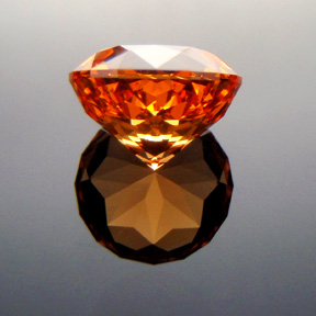 Fanta Orange Mandarin Spessartite Garnet, Antique Round 1910, Tanzania, #316