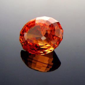 Fanta Orange Mandarin Spessartite Garnet, Under The Dome #5, #317 - Doug Menadue :: Bespoke Gems - Master gemcutter and lapidary artist specialising in fine custom cut precision gems from a wide range of select facet gem rough. Located in Sydney, Australia.