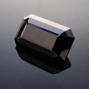 Black Spinel, Rubyvale, Central Queensland, Emerald Cut, #321 - Doug Menadue :: Bespoke Gems - Master gemcutter and lapidary artist specialising in fine custom cut precision gems from a wide range of select facet gem rough. Located in Sydney, Australia.