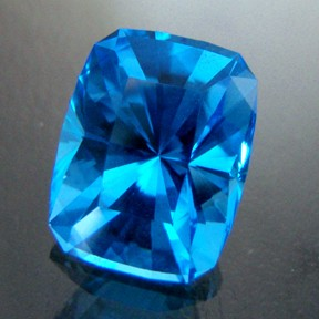 Blue Topaz, The Sultans' Seat, #34 - Doug Menadue :: Bespoke Gems - Master gemcutter and lapidary artist specialising in fine custom cut precision gems from a wide range of select facet gem rough. Located in Sydney, Australia.