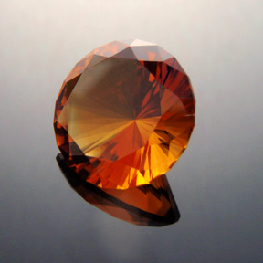 Madeira Citrine, Sunflare, #345 - Doug Menadue :: Bespoke Gems - Master gemcutter and lapidary artist specialising in fine custom cut precision gems from a wide range of select facet gem rough. Located in Sydney, Australia.