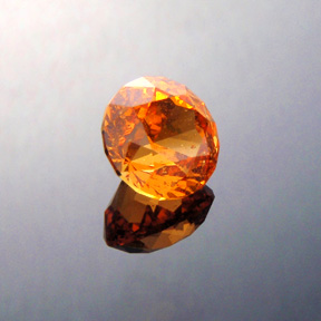 Fanta Orange Mandarin Spessartite Garnet, Antique Round 1910, Loliondo, Tanzania, #353