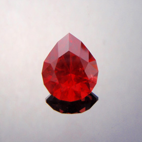 Red Spinel, Brilliant Pear, Mahenge, Tanzania, #359