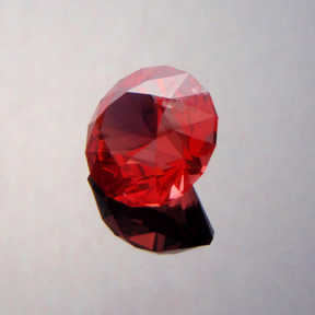 Red Spinel, Round Brilliant, Mahenge, Tanzania, #360
