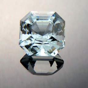 Aquamarine, Asscher Cut, #371 - Doug Menadue :: Bespoke Gems - Master gemcutter and lapidary artist specialising in fine custom cut precision gems from a wide range of select facet gem rough. Located in Sydney, Australia.