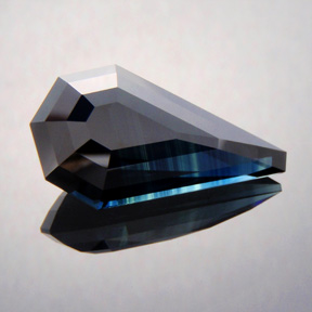 Sapphire, Step Cut Kite, #378 - Doug Menadue :: Bespoke Gems - Master gemcutter and lapidary artist specialising in fine custom cut precision gems from a wide range of select facet gem rough. Located in Sydney, Australia.