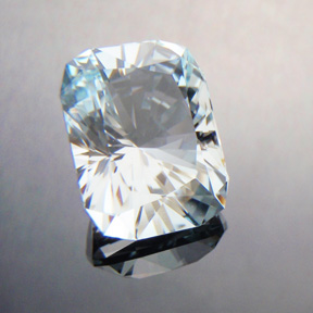 Aquamarine, Signature #3, #385 - Doug Menadue :: Bespoke Gems - Master gemcutter and lapidary artist specialising in fine custom cut precision gems from a wide range of select facet gem rough. Located in Sydney, Australia.