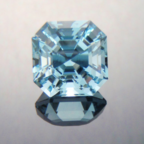 Natural Blue Topaz, Asscher Cut, Brazil, #386 - Doug Menadue :: Bespoke Gems - Master gemcutter and lapidary artist specialising in fine custom cut precision gems from a wide range of select facet gem rough. Located in Sydney, Australia.
