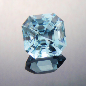Natural Blue Topaz, Asscher Cut, Brazil, #386
