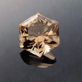 Smokey Quartz, Six Ray Star, #393 - Doug Menadue :: Bespoke Gems - Master gemcutter and lapidary artist specialising in fine custom cut precision gems from a wide range of select facet gem rough. Located in Sydney, Australia.
