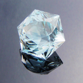 Natural Blue Topaz, Tangier, O'Briens Creek, Australia, #419 - Doug Menadue :: Bespoke Gems - Master gemcutter and lapidary artist specialising in fine custom cut precision gems from a wide range of select facet gem rough. Located in Sydney, Australia.