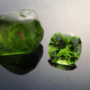 Peridot, Victoria Regent, Pakistan, #446 - Doug Menadue :: Bespoke Gems - Master gemcutter and lapidary artist specialising in fine custom cut precision gems from a wide range of select facet gem rough. Located in Sydney, Australia.