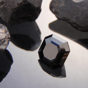 Black Spinel, Asscher, Rubyvale, Central Queensland, Australia, #449