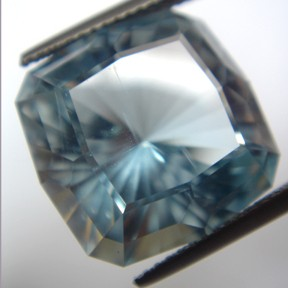 Topaz (Light Blue), Barion Old Mine, O'Briens Creek, Mt Surprise, Australia, #45 - Doug Menadue :: Bespoke Gems - Master gemcutter and lapidary artist specialising in fine custom cut precision gems from a wide range of select facet gem rough. Located in Sydney, Australia.