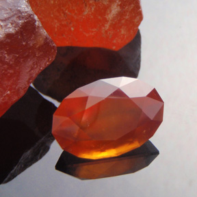 Spessartite Garnet, Mixed Brilliant Step Oval, #474 - Doug Menadue :: Bespoke Gems - Master gemcutter and lapidary artist specialising in fine custom cut precision gems from a wide range of select facet gem rough. Located in Sydney, Australia.