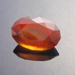 Spessartite Garnet, Brilliant Pear, Africa, #474