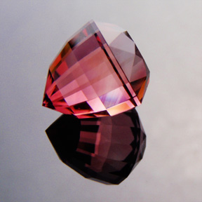 Rubellite Tourmaline, Nigeria, Acorn, #481 - Doug Menadue :: Bespoke Gems - Master gemcutter and lapidary artist specialising in fine custom cut precision gems from a wide range of select facet gem rough. Located in Sydney, Australia.