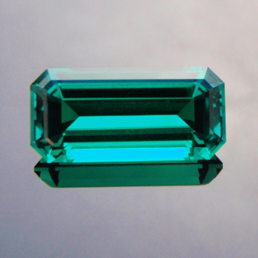 Biron Emerald, Emerald Cut, #489 - Doug Menadue :: Bespoke Gems - Master gemcutter and lapidary artist specialising in fine custom cut precision gems from a wide range of select facet gem rough. Located in Sydney, Australia.