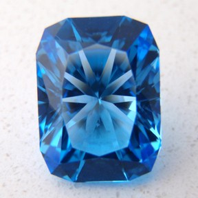 Blue Topaz, Signature #3, #49 - Doug Menadue :: Bespoke Gems - Master gemcutter and lapidary artist specialising in fine custom cut precision gems from a wide range of select facet gem rough. Located in Sydney, Australia.