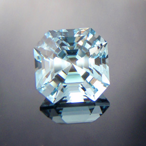 Blue Topaz, Asscher, Pakistan, #516 - Doug Menadue :: Bespoke Gems - Master gemcutter and lapidary artist specialising in fine custom cut precision gems from a wide range of select facet gem rough. Located in Sydney, Australia.