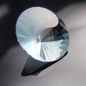 Natural Blue Topaz, Yin Yang, Africa, #530 - Doug Menadue :: Bespoke Gems - Master gemcutter and lapidary artist specialising in fine custom cut precision gems from a wide range of select facet gem rough. Located in Sydney, Australia.