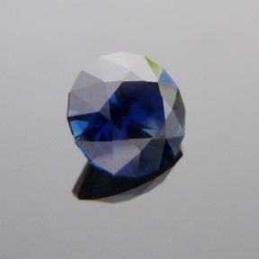 Sapphire, Round Brilliant, #531 - Doug Menadue :: Bespoke Gems - Master gemcutter and lapidary artist specialising in fine custom cut precision gems from a wide range of select facet gem rough. Located in Sydney, Australia.
