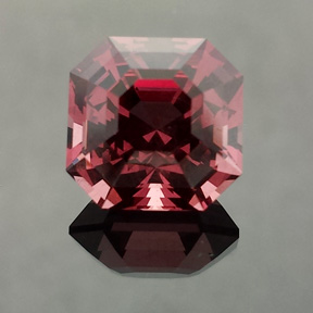 Tanga Garnet, Asscher, #539 - Doug Menadue :: Bespoke Gems - Master gemcutter and lapidary artist specialising in fine custom cut precision gems from a wide range of select facet gem rough. Located in Sydney, Australia.