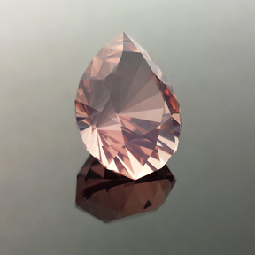 Rose Quartz, Utopia Pear, #540 - Doug Menadue :: Bespoke Gems - Master gemcutter and lapidary artist specialising in fine custom cut precision gems from a wide range of select facet gem rough. Located in Sydney, Australia.
