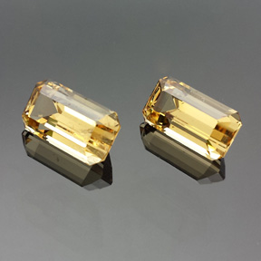 Golden Beryl, Emerald Cut, #549 - Doug Menadue :: Bespoke Gems - Master gemcutter and lapidary artist specialising in fine custom cut precision gems from a wide range of select facet gem rough. Located in Sydney, Australia.