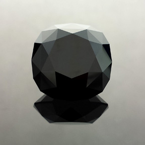 Black Spinel, Thailand, Victoria Regent, #550 - Doug Menadue :: Bespoke Gems - Master gemcutter and lapidary artist specialising in fine custom cut precision gems from a wide range of select facet gem rough. Located in Sydney, Australia.