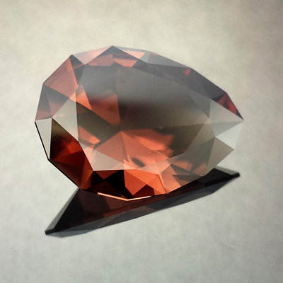 Zircon, Seven Main Pendaloque, Harts Ranges, Australia, #553 - Doug Menadue :: Bespoke Gems - Master gemcutter and lapidary artist specialising in fine custom cut precision gems from a wide range of select facet gem rough. Located in Sydney, Australia.