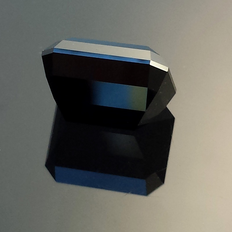 Black Spinel, Emerald Cut, Rubyvale, Central Queensland, Australia, #571