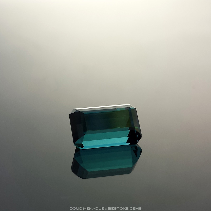 Indicolite Tourmaline, Emerald Cut, Unknown, #616