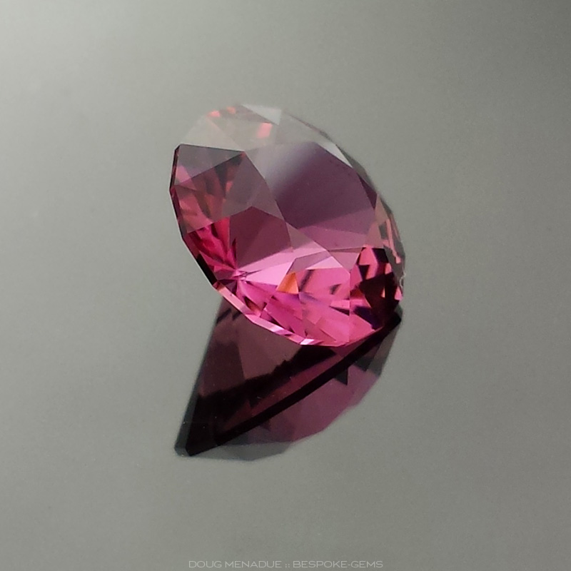 Hot Pink Tourmaline, Round Brilliant, Nigeria, #618